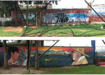 El mirador - before and after